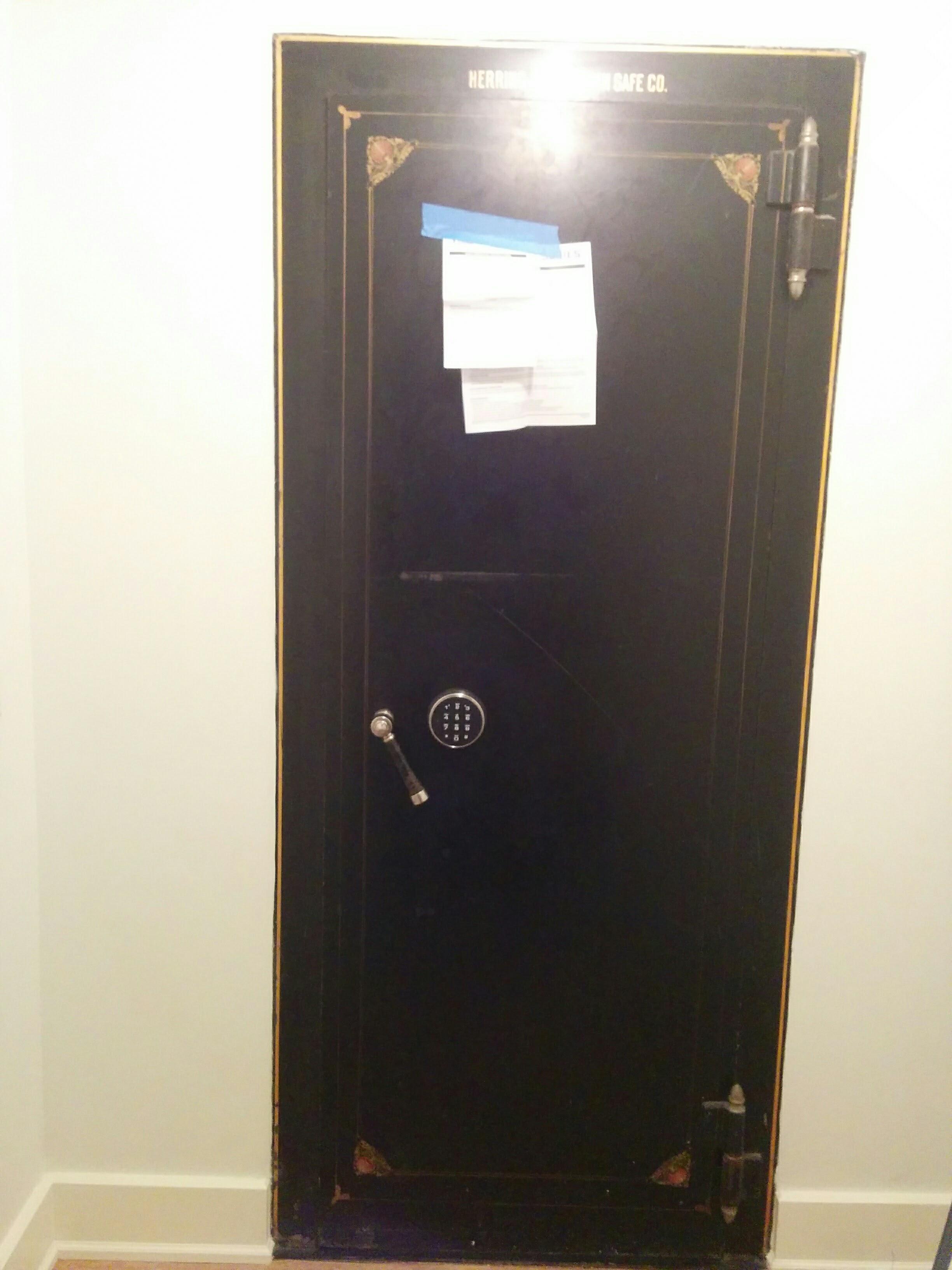 Vault Door Electronic Lock Retrofit And Emergency Release