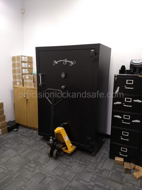 Install of a custom Large Amsec Burglary Fire Safe