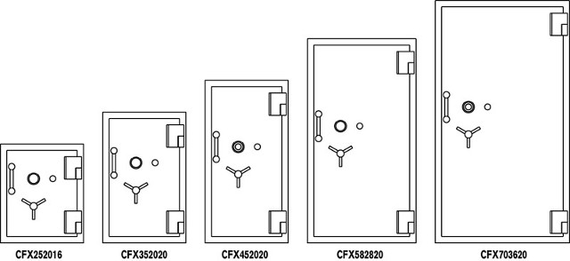 Amvaultx6 U.L. Listed TL-30×6, six-sided high security composite safes