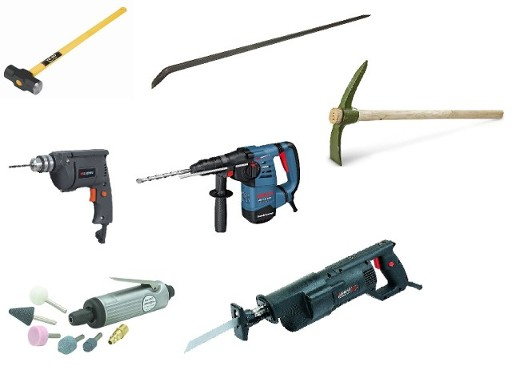 The Above Tools, Large Hand Tools and Power Tools